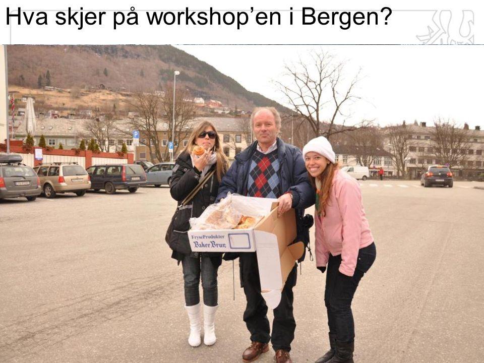 Hva skjer på workshop'en i Bergen?