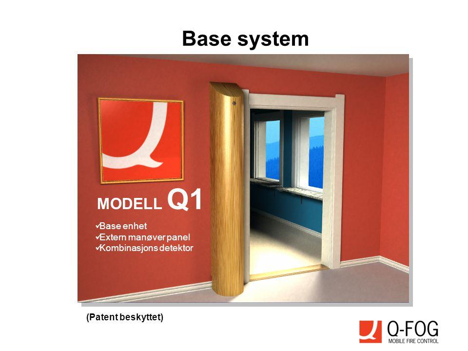 MODELL Q1  Base enhet  Extern manøver panel  Kombinasjons detektor (Patent beskyttet) Base system