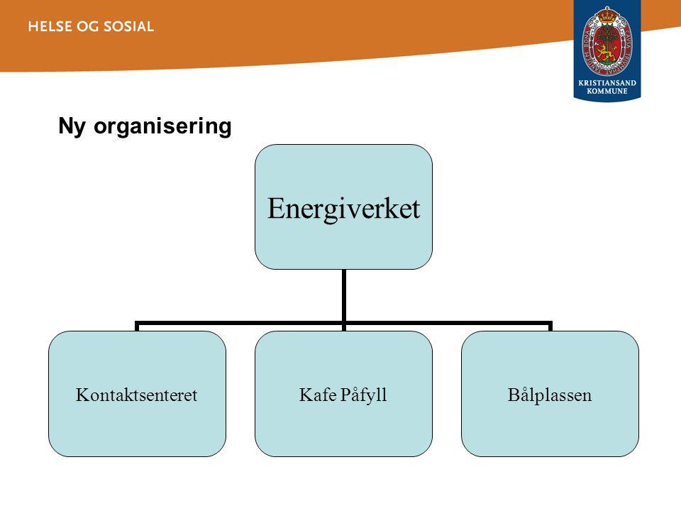 Ny organisering Energiverket KontaktsenteretKafe PåfyllBålplassen