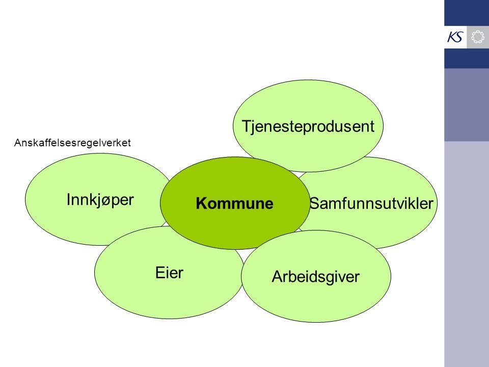 Samfunnsutvikler Innkjøper Eier Tjenesteprodusent Kommune Arbeidsgiver Anskaffelsesregelverket