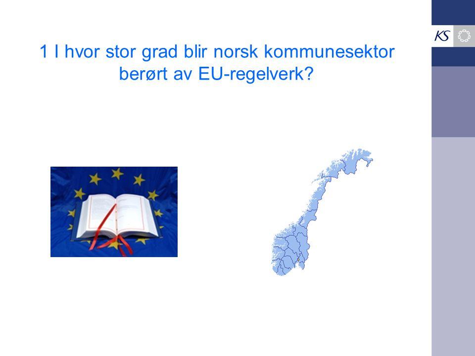 1 I hvor stor grad blir norsk kommunesektor berørt av EU-regelverk?