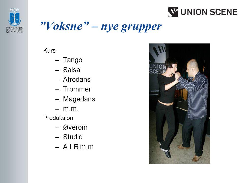 Voksne – nye grupper Kurs –Tango –Salsa –Afrodans –Trommer –Magedans –m.m.