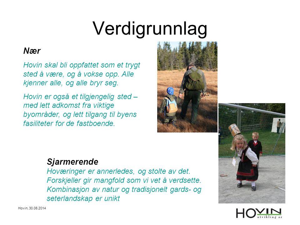 Hovin, 30.06.2014 Verdigrunnlag Sjarmerende Hoværinger er annerledes, og stolte av det. Forskjeller gir mangfold som vi vet å verdsette. Kombinasjon a
