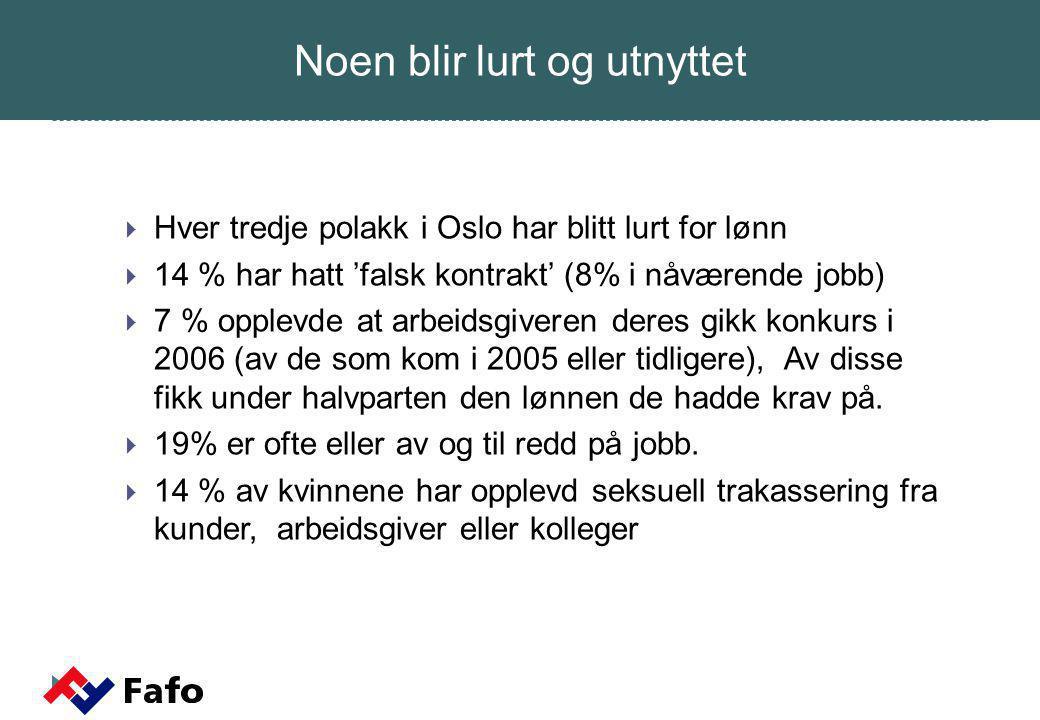 Den integrerte polakk - Har norsk jobb med norsk lønn og arbeidstid.