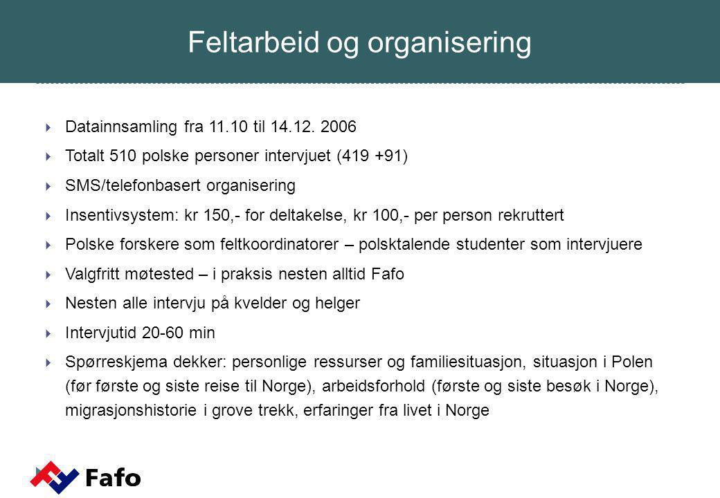  Forventningsrette , men umulig å sikre seg mot alle feilkilder  Gjelder for polakker i Oslo-området høsten 2006.