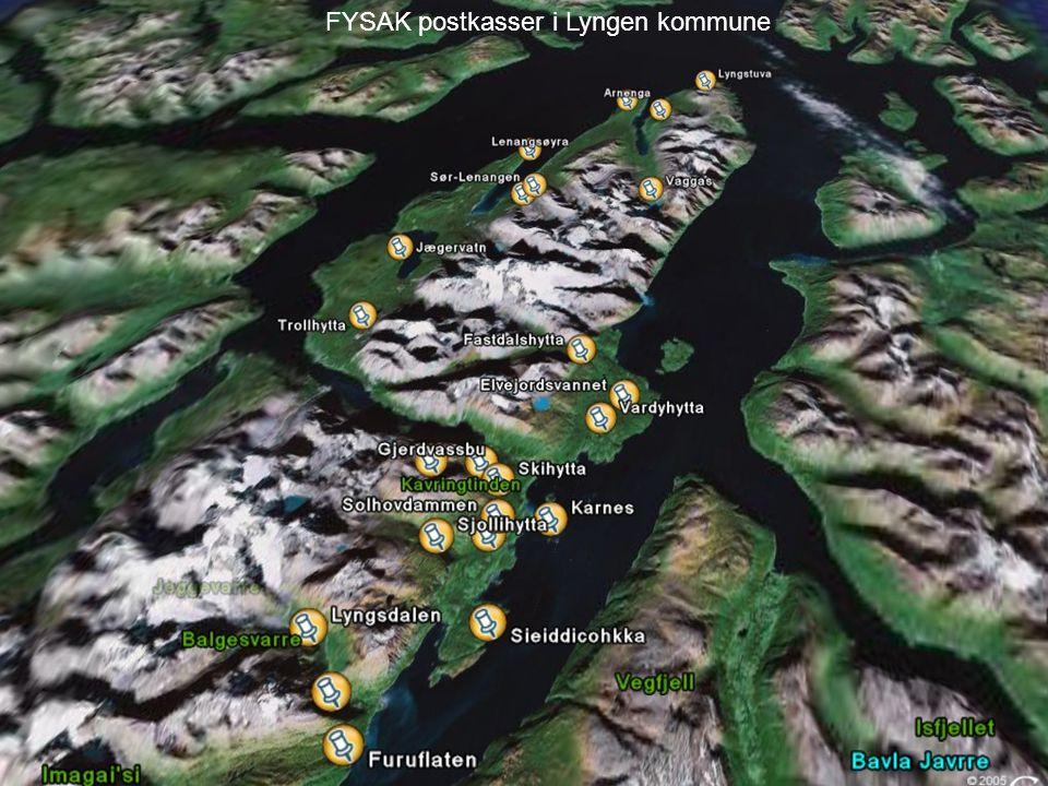 FYSAK postkasser i Lyngen kommune