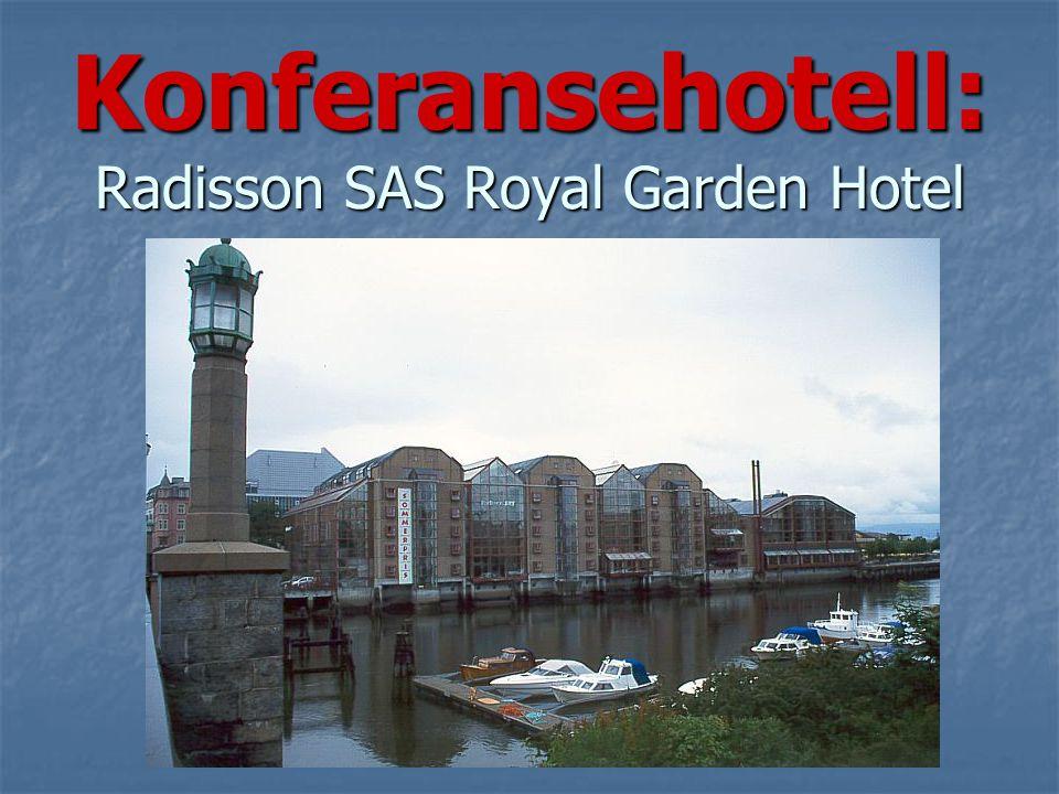 Radisson SAS Royal Garden Radisson SAS Royal Garden Trondheims ledende konferansehotell med 297 velutstyrte værelser, svømmebasseng og trimavdeling, restauranter, bar og kafé.