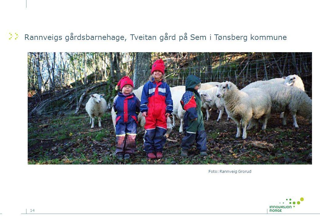 14 Rannveigs gårdsbarnehage, Tveitan gård på Sem i Tønsberg kommune Foto: Rannveig Grorud