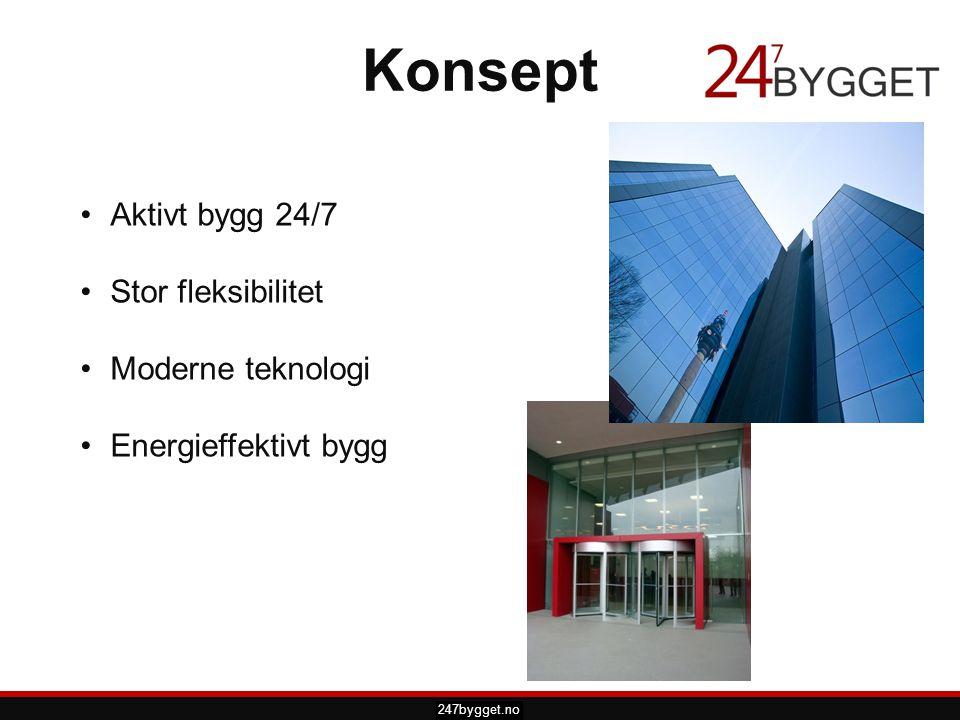 pdsprotek.no Konsept •Aktivt bygg 24/7 •Stor fleksibilitet •Moderne teknologi •Energieffektivt bygg 247bygget.no