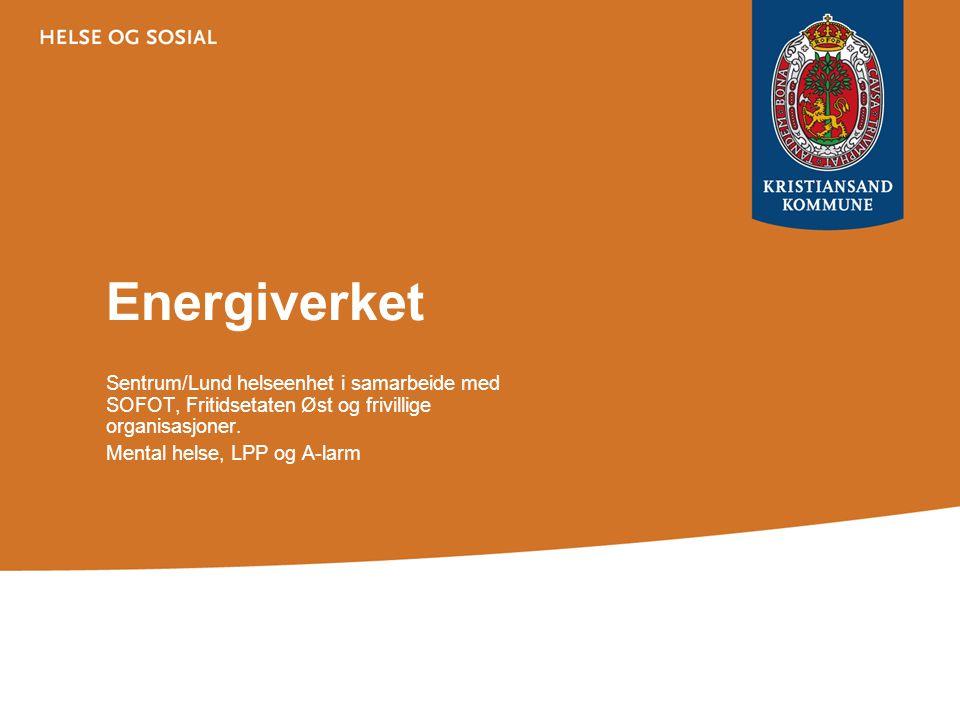 Energiverket Sentrum/Lund helseenhet i samarbeide med SOFOT, Fritidsetaten Øst og frivillige organisasjoner.