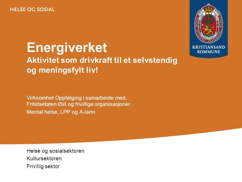 Energiverket Aktivitet som drivkraft til et selvstendig og meningsfylt liv! Virksomhet Oppfølging i samarbeide med, Fritidsetaten Øst og frivillige or