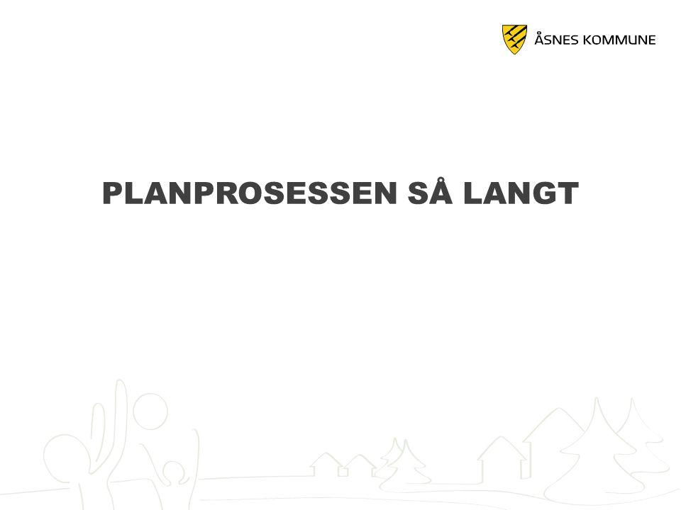 PLANPROSESSEN SÅ LANGT