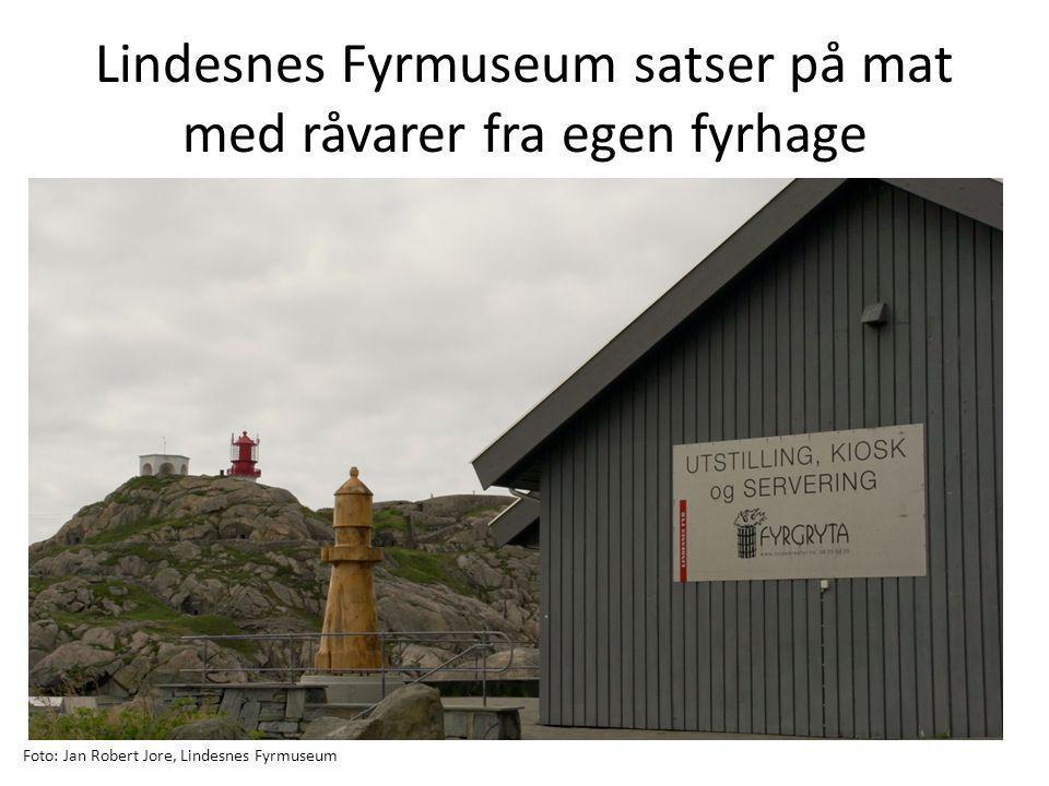 Lindesnes Fyrmuseum satser på mat med råvarer fra egen fyrhage Foto: Jan Robert Jore, Lindesnes Fyrmuseum