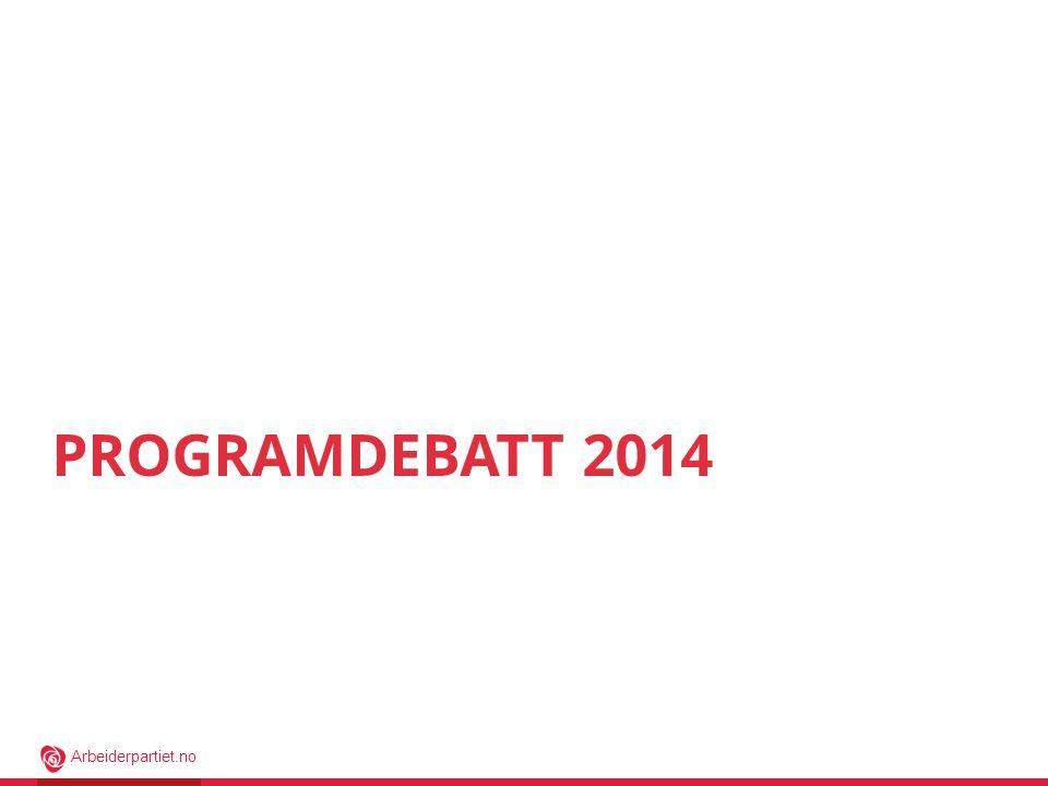 Arbeiderpartiet.no PROGRAMDEBATT 2014