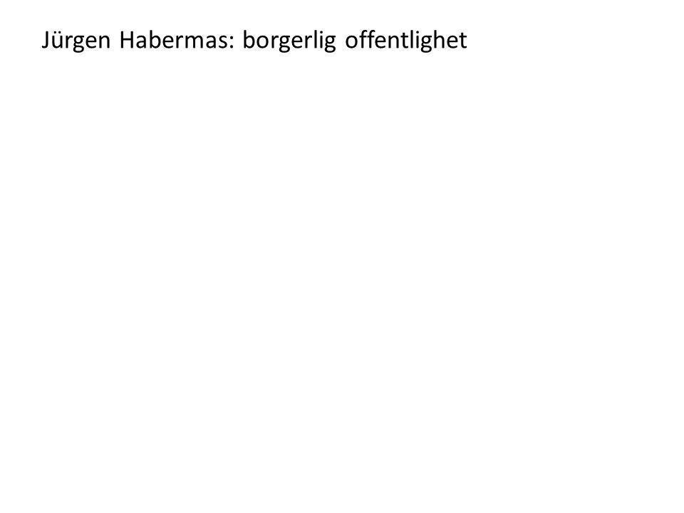 Jürgen Habermas: borgerlig offentlighet