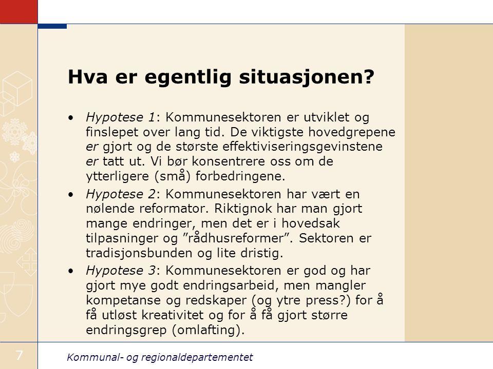Kommunal- og regionaldepartementet 8 What's in it for KRD – og meg.