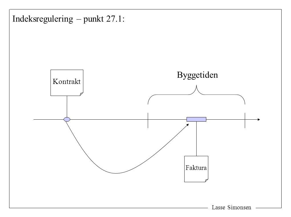 Lasse Simonsen Kontrakt Byggetiden Faktura Indeksregulering – punkt 27.1: