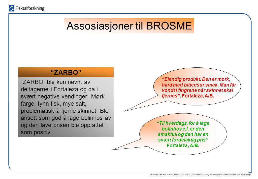 """Jens Østli, Bacalao Forum, Ålesund 21. mai 2007© Fiskeriforskning - Kan kopieres/videreformidles når kilde oppgis """"ZARBO"""" """"ZARBO"""" ble kun nevnt av del"""