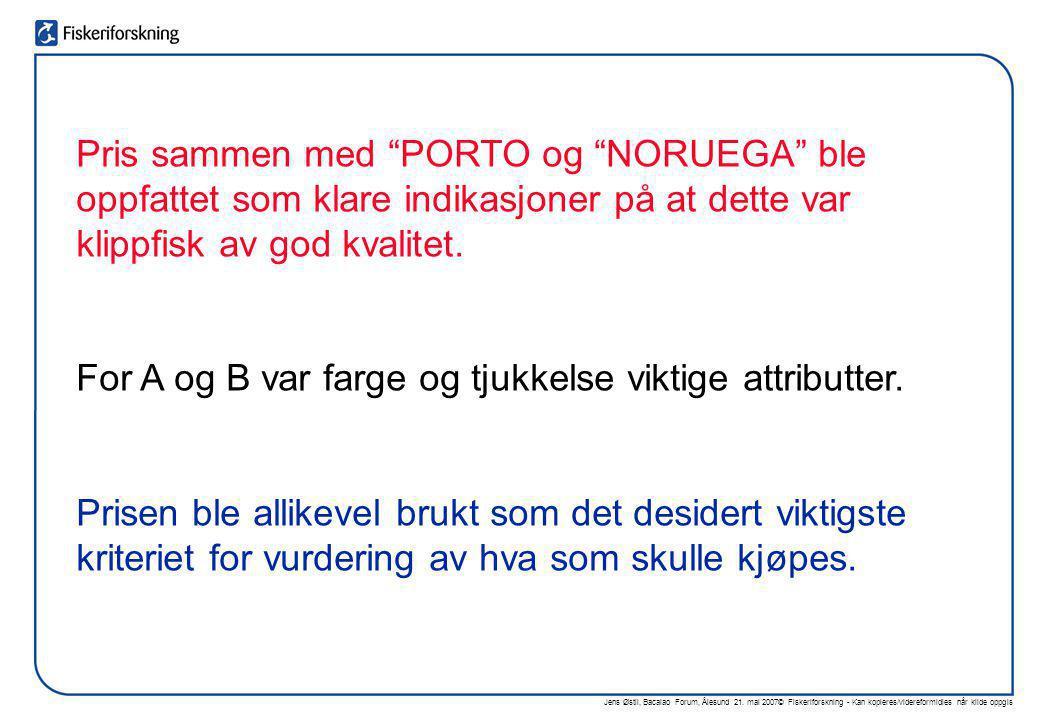 """Jens Østli, Bacalao Forum, Ålesund 21. mai 2007© Fiskeriforskning - Kan kopieres/videreformidles når kilde oppgis Pris sammen med """"PORTO og """"NORUEGA"""""""