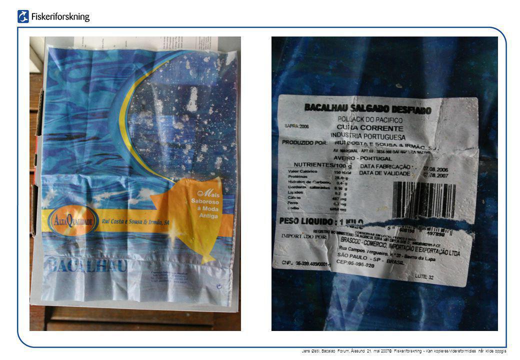 Jens Østli, Bacalao Forum, Ålesund 21. mai 2007© Fiskeriforskning - Kan kopieres/videreformidles når kilde oppgis