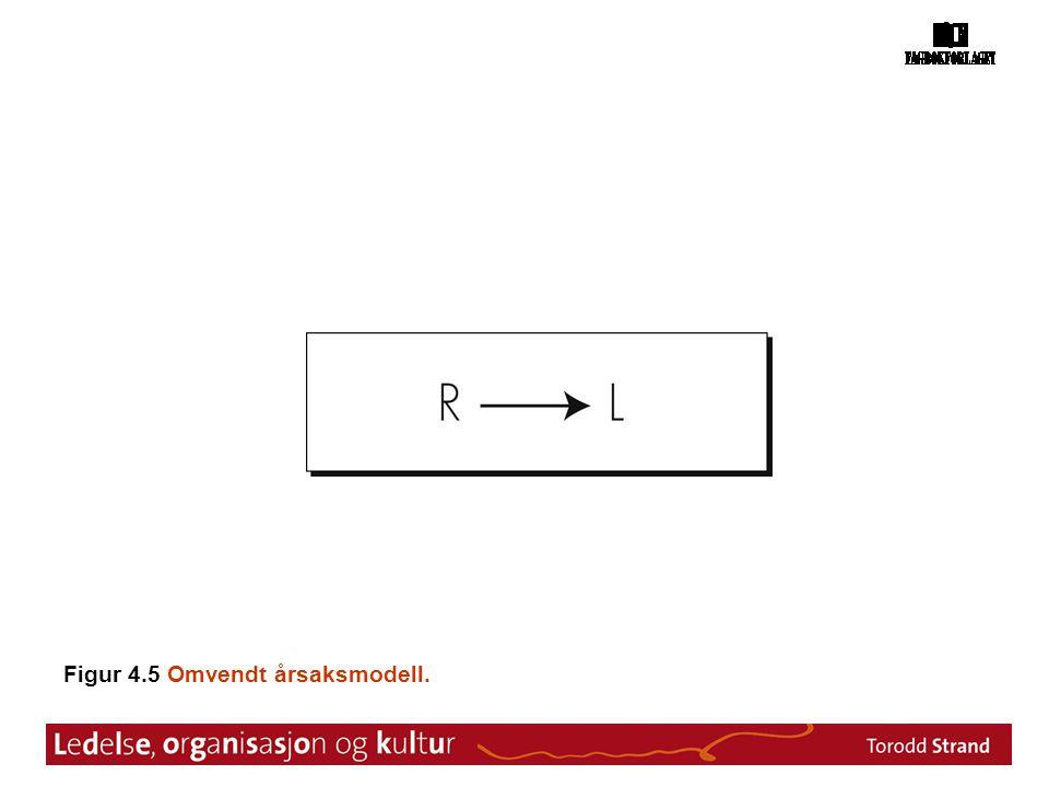 Figur 4.5 Omvendt årsaksmodell.