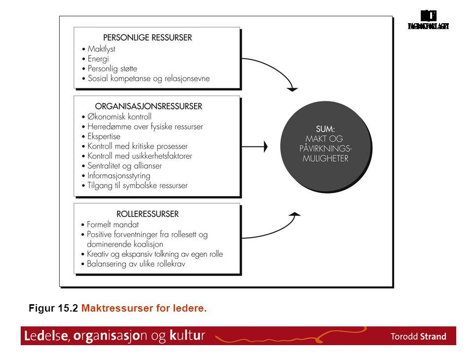 Figur 15.2 Maktressurser for ledere.