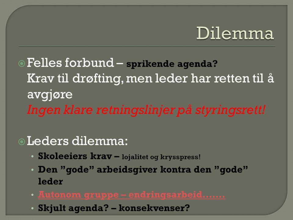  Åpenhet – god dialog  Drøfte samarbeidsformen.