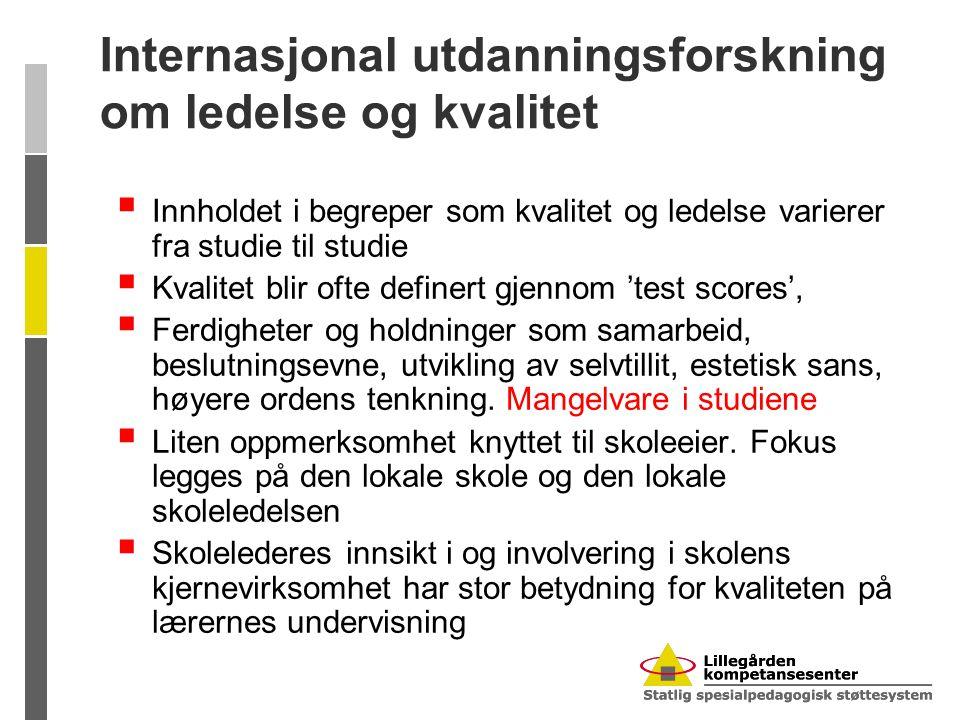 Å være ungdomsskolelærer i Norge (TALIS, NIFU STEP RAPPORT 23/2009)  Skolelederne er tydelige som administrative ledere  Det pedagogiske lederskapet mindre klart.