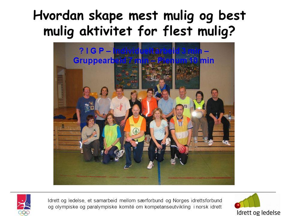 Idrett og ledelse, et samarbeid mellom særforbund og Norges idrettsforbund og olympiske og paralympiske komité om kompetanseutvikling i norsk idrett