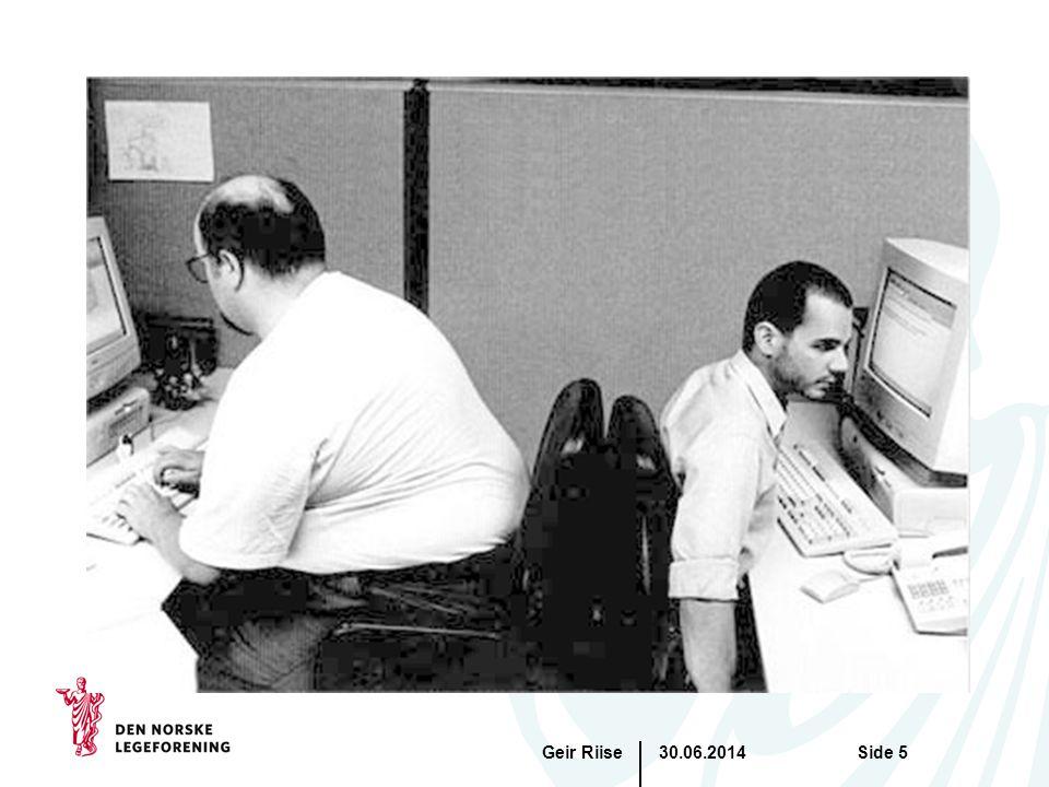 30.06.2014Geir RiiseSide 6 Arbeidsmiljøet kan ikke kopieres – godt arbeidsmiljø bidrar til suksess •Alt henger sammen med alt (GHB) •Virksomheter med de beste økonomiske resultatene har over tid de beste arbeidsmiljø resultatene •Godt arbeidsmiljø forebygger sykefravær •God ledelse er å forstå sammenhengen mellom arbeidsglede og motivasjon •Arbeidsmiljø bør alltid være første punkt på alle ledermøter og møter med personell