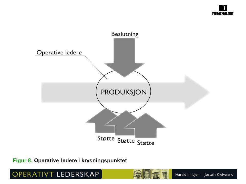 Figur 8. Operative ledere i krysningspunktet