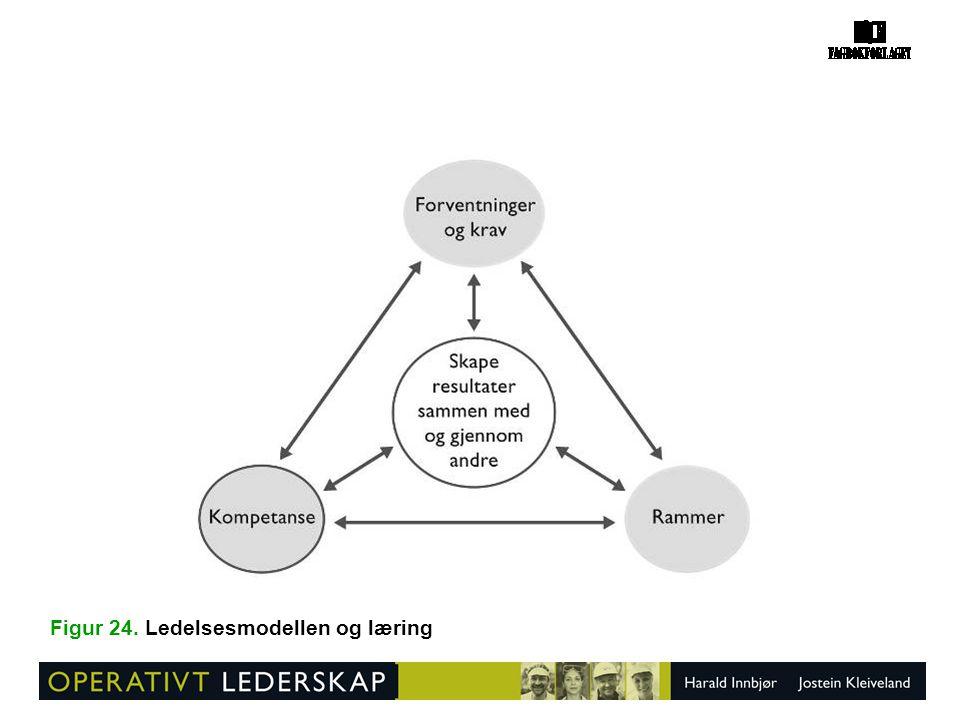 Figur 24. Ledelsesmodellen og læring