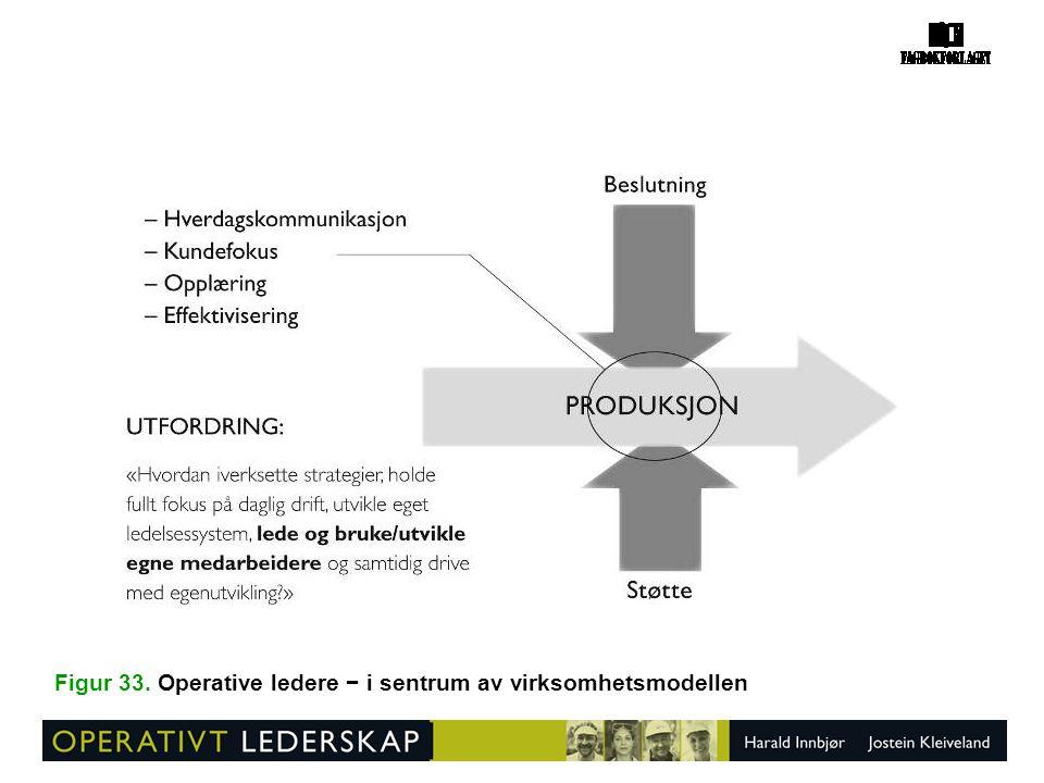Figur 33. Operative ledere − i sentrum av virksomhetsmodellen