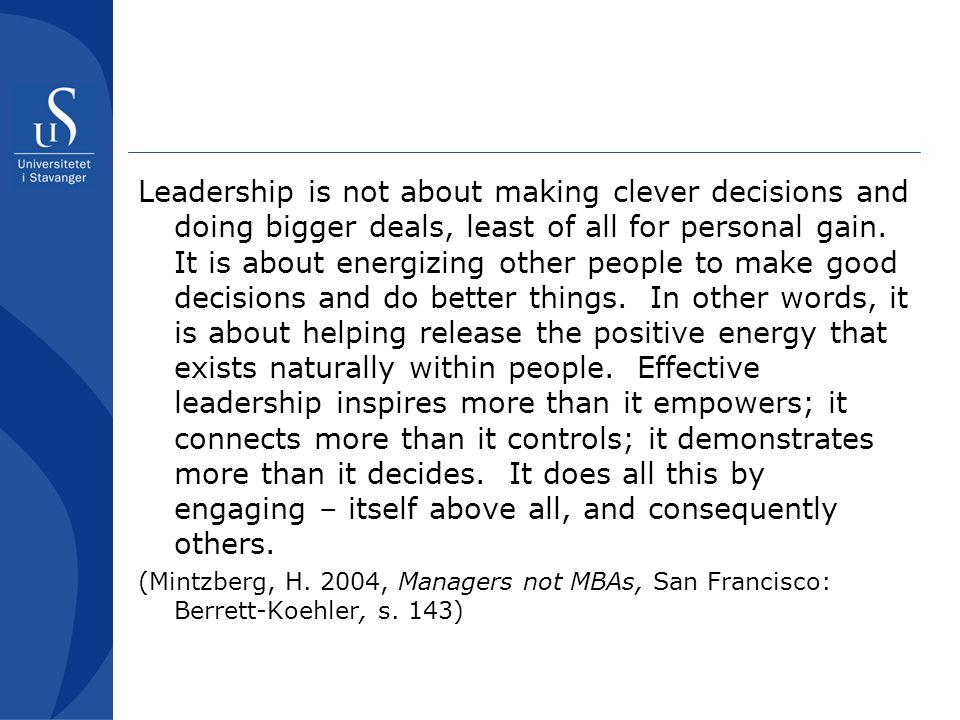 Faglig ledelse Del 1: the black box Den eneste måten å fremme læringsresultater er å fremme undervisning.
