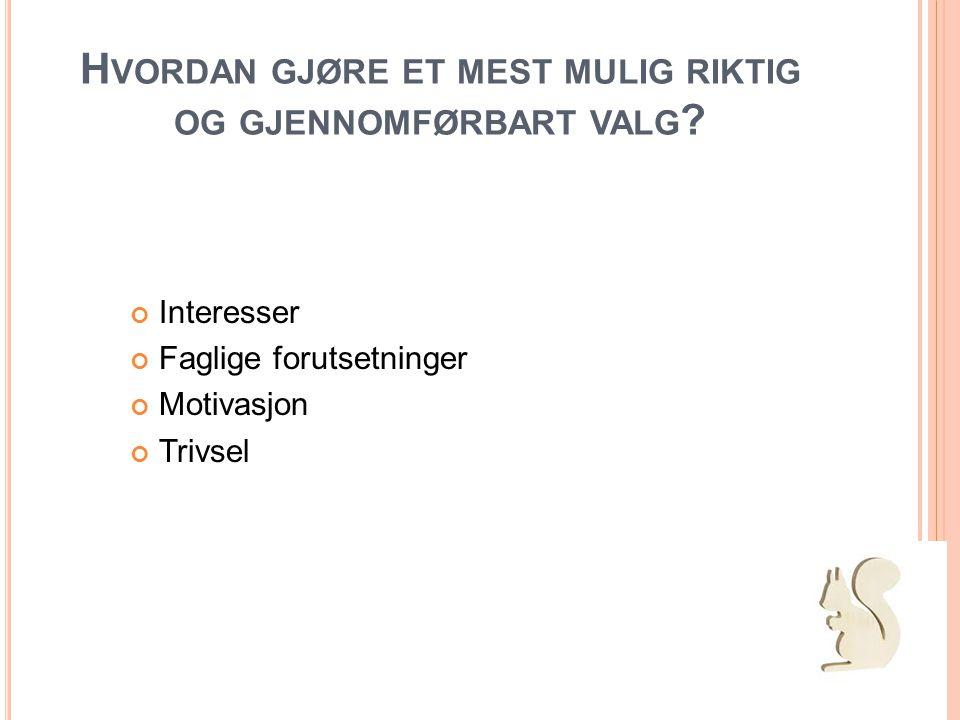 G ENERELL STUDIEKOMPETANSE (SSØ) ( ALLE YRKER SOM IKKE KREVER SPESIELL STUD.