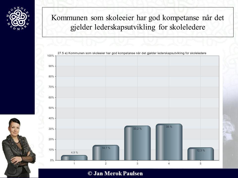 © Jan Merok Paulsen Kommunen som skoleeier har god kompetanse når det gjelder lederskapsutvikling for skoleledere