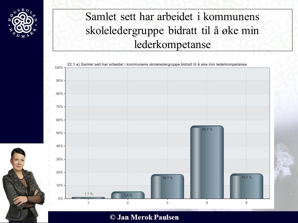 © Jan Merok Paulsen Samlet sett har arbeidet i kommunens skoleledergruppe bidratt til å øke min lederkompetanse