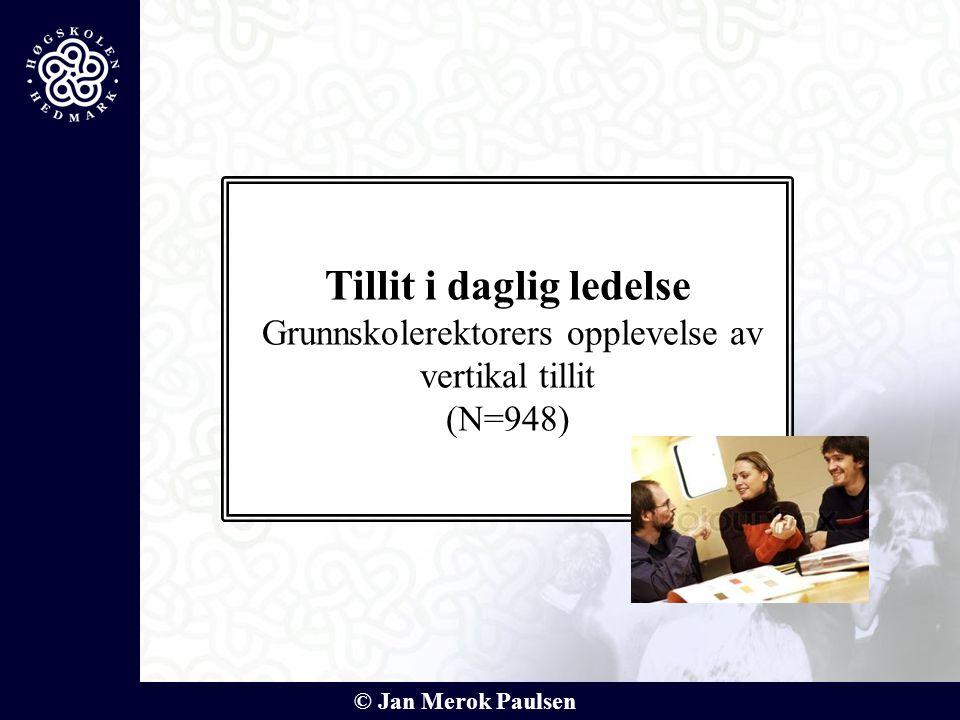 © Jan Merok Paulsen Tillit i daglig ledelse Grunnskolerektorers opplevelse av vertikal tillit (N=948)