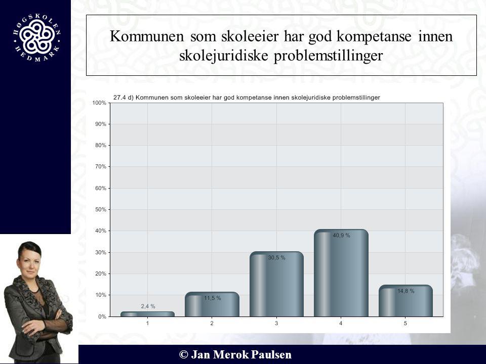 © Jan Merok Paulsen Kommunen som skoleeier har god kompetanse innen skolejuridiske problemstillinger