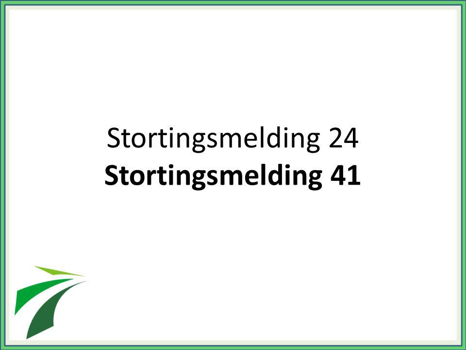 Stortingsmelding 24 Stortingsmelding 41