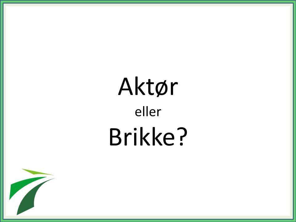 Aktør eller Brikke?