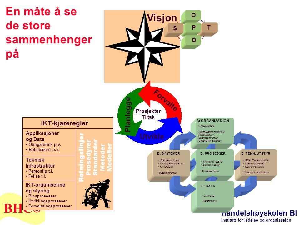 Handelshøyskolen BI Institutt for ledelse og organisasjon BHC © • Medarbeidere Organisasjonsstruktur Rollestruktur Selskapsstruktur Geografisk struktu