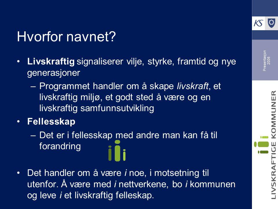 Presentasjon 2006 Hvorfor navnet.