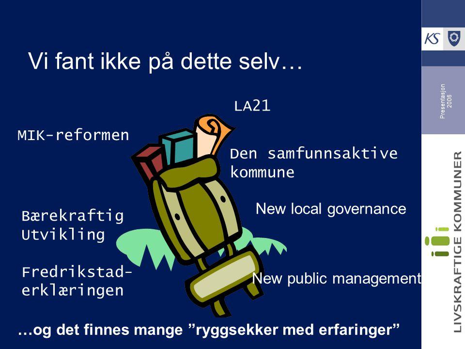Presentasjon 2006 Hvorfor er programmet nytt .