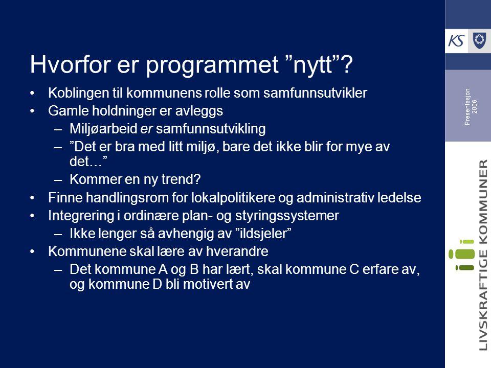 Presentasjon 2006 Hvordan nyttiggjøres indikatorene.