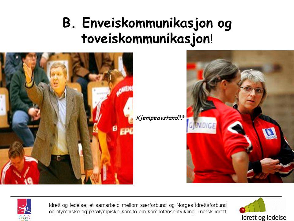 Idrett og ledelse, et samarbeid mellom særforbund og Norges idrettsforbund og olympiske og paralympiske komité om kompetanseutvikling i norsk idrett B.