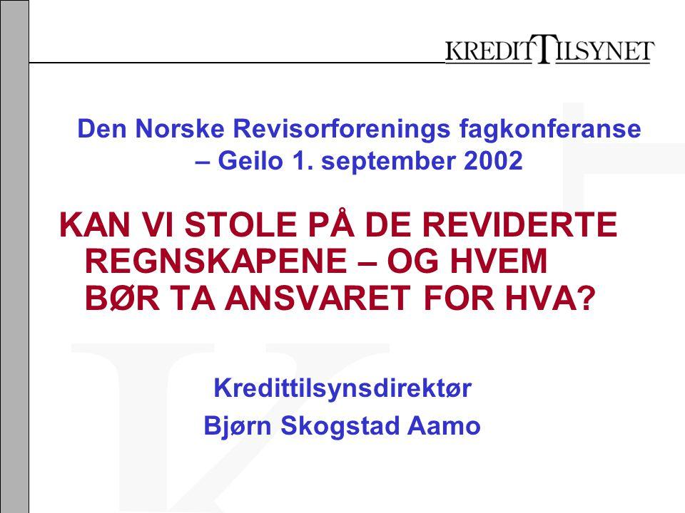 Den Norske Revisorforenings fagkonferanse – Geilo 1.