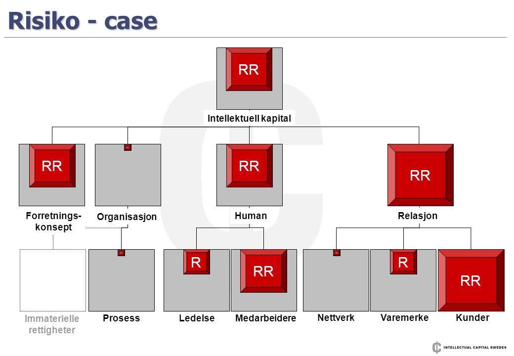 Risiko - case - R RR - R ProsessLedelse Medarbeidere NettverkVaremerkeKunder Human Relasjon Organisasjon Forretnings- konsept Immaterielle rettigheter