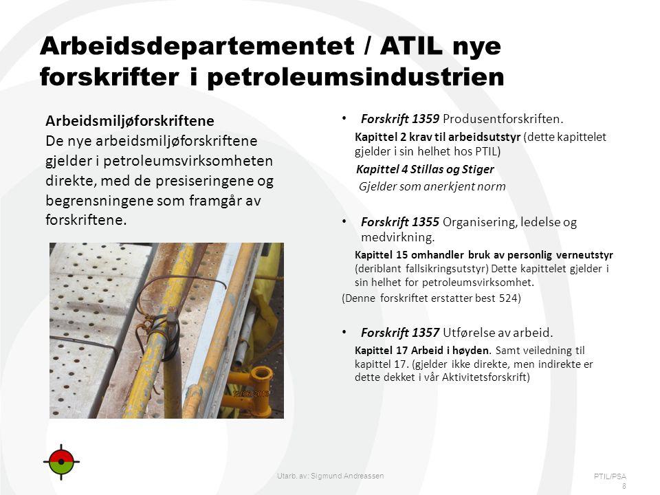 PTIL/PSA Arbeidsdepartementet / ATIL nye forskrifter i petroleumsindustrien • Forskrift 1359 Produsentforskriften.