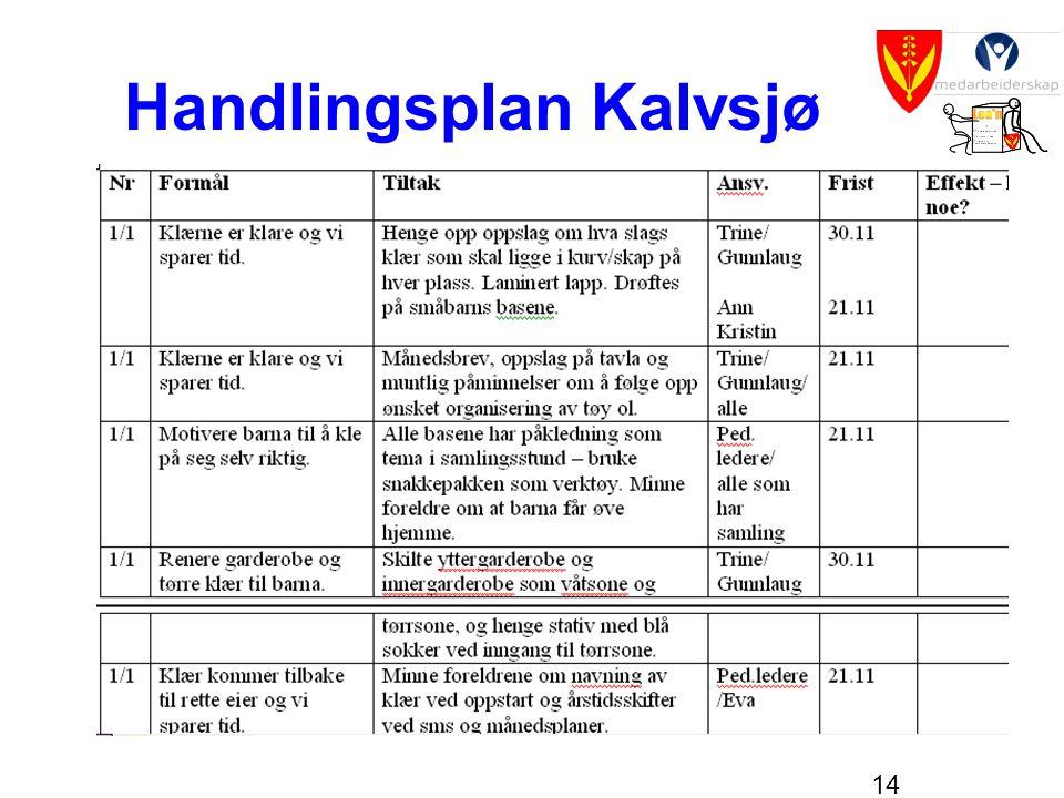 14 Handlingsplan Kalvsjø